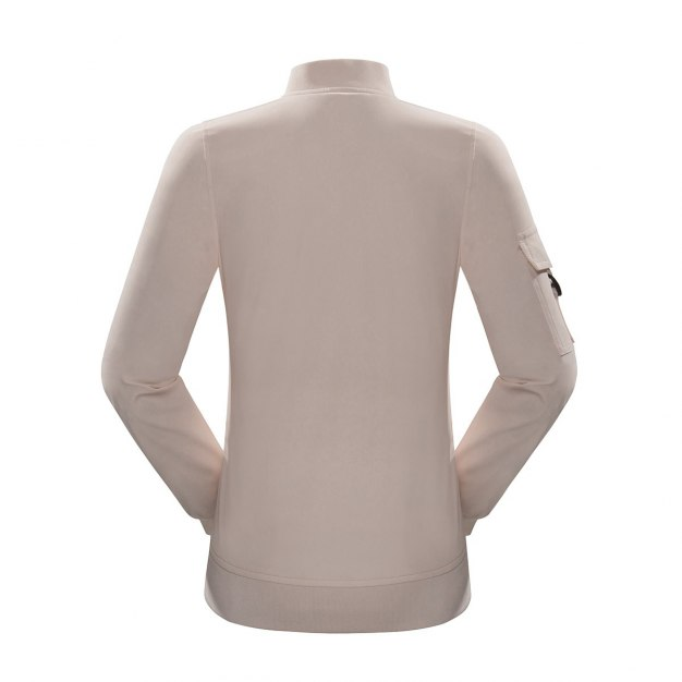 Stand Collar Long Sleeve Windbreak Women's Top
