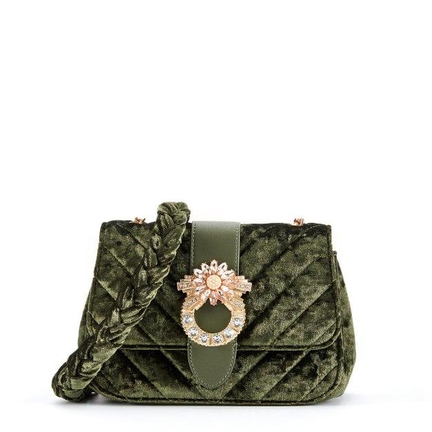 Green Plain Medium Women's Crossbody Bag
