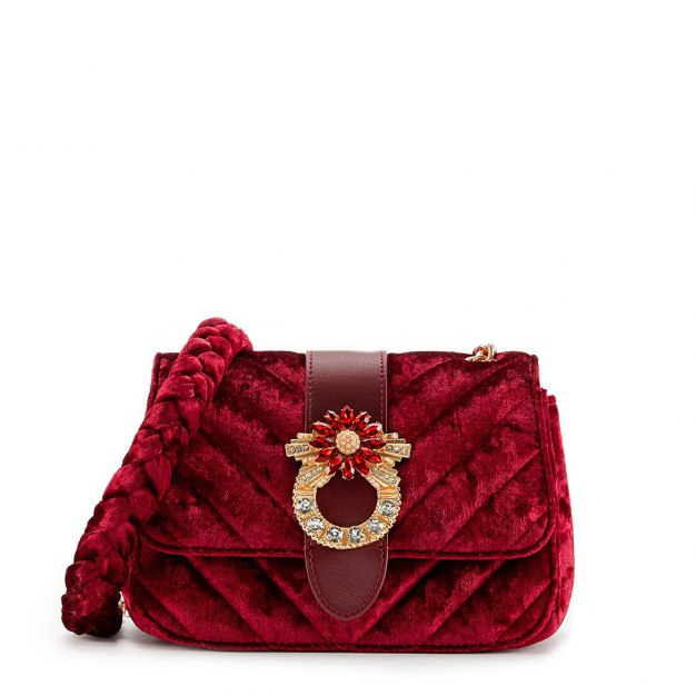 Red Plain Medium Women's Crossbody Bag