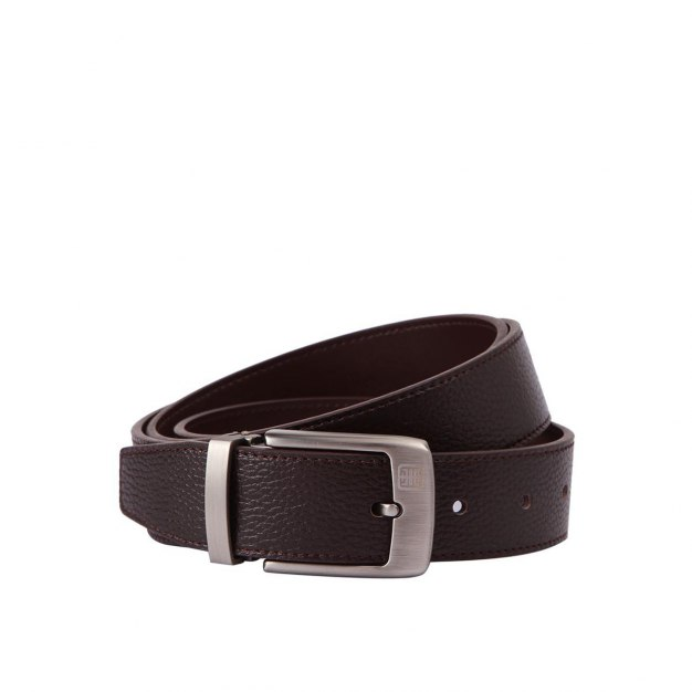 Coffee Soft Cowhide Leather Men's Belt