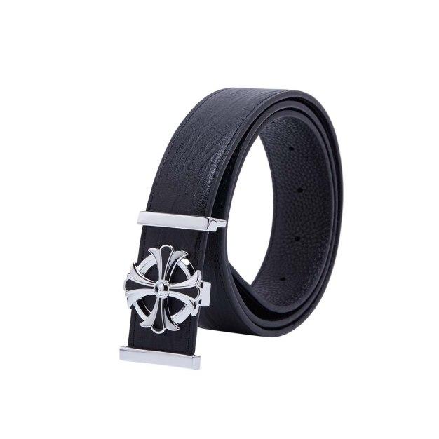 Black Soft Two Plies Cowhide Men's Belt