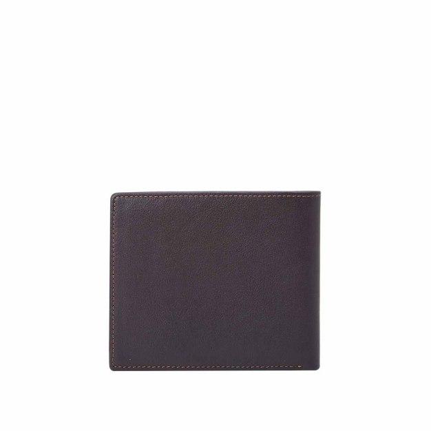 Plain Cowhide Leather Small Men's Wallet & Card Case
