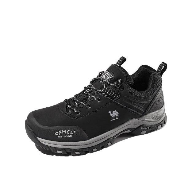 Black Anti Skidding Outdoor Men's Hiking Shoes