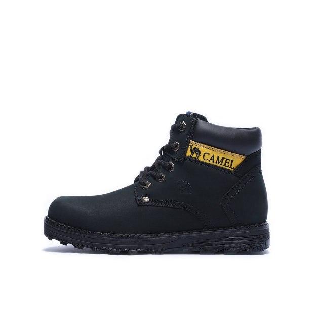 Black Shock-Absorbing Hiking Outdoor Men's Boots