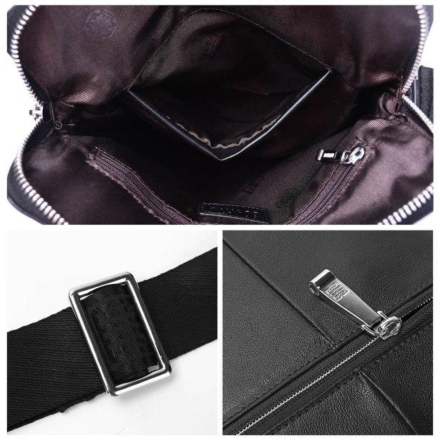 Cowhide Leather Medium Men's Shoulder Bag