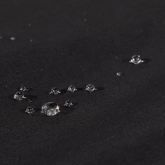 Black Waterproof Men's Outerwear