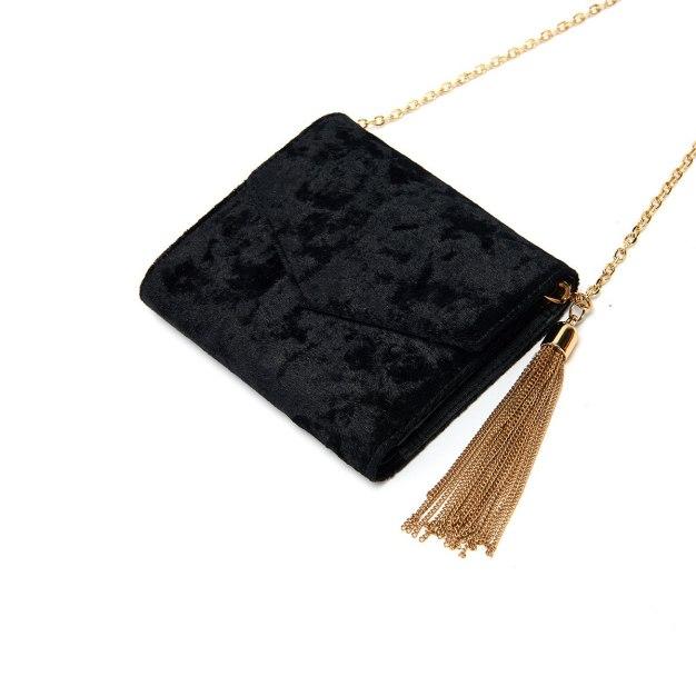 Black Plain Purse(Short) Big Women's Wallet