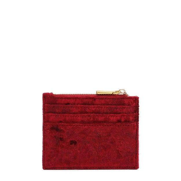 Red Plain Purse(Short) Medium Women's Wallet