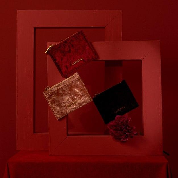 Pink Plain Purse(Short) Medium Women's Wallet