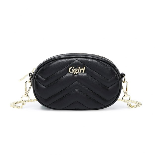 Black PU Purse Mini Women's Crossbody Bag