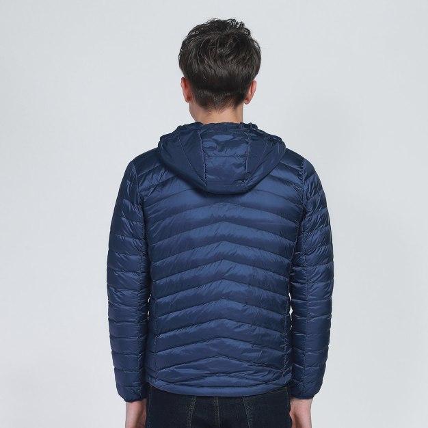 Blue Lapel Warm Men's Down Jacket