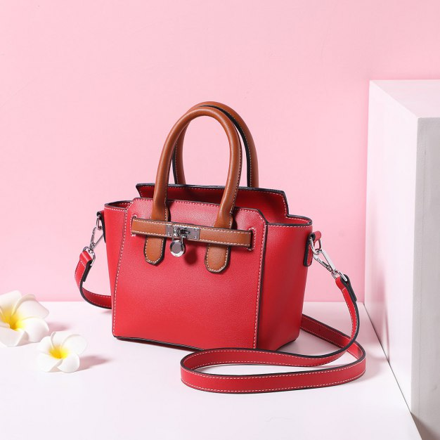 Red Pvc Bag Small Women's Tote