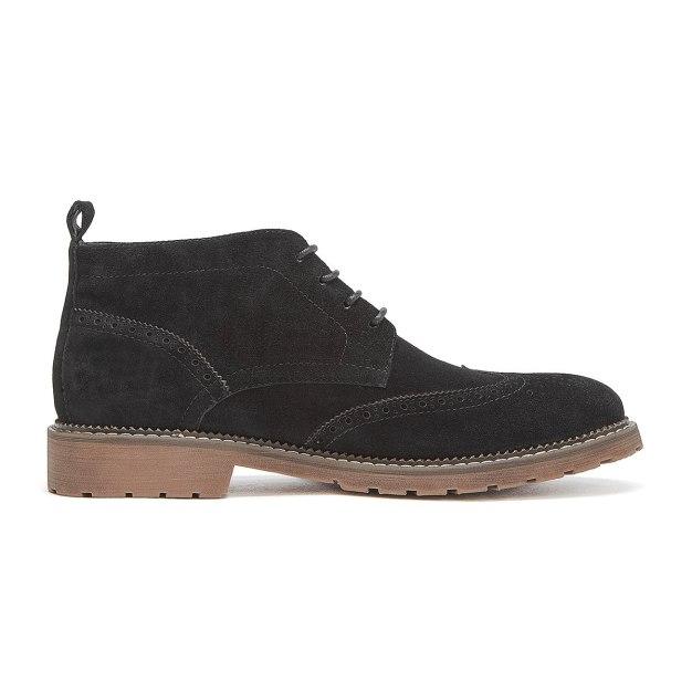 Black Round Head Men's Boots