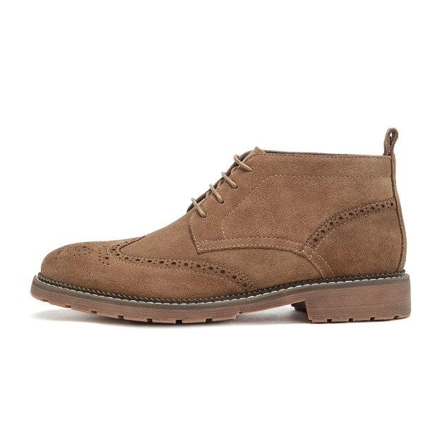 Apricot Round Head Men's Boots
