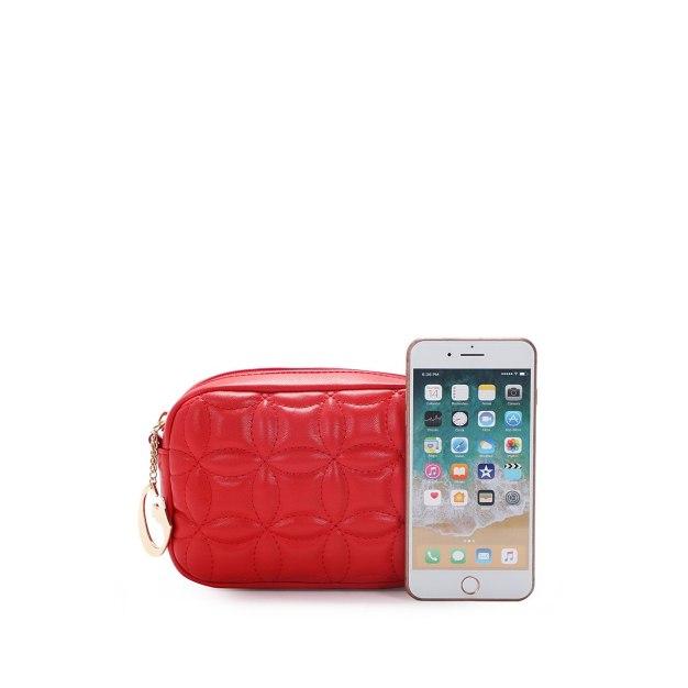 Red Plain PU Purse Small Women's Crossbody Bag