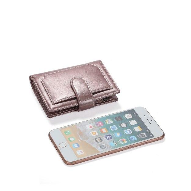Plain PU Purse(Short) Small Women's Wallet