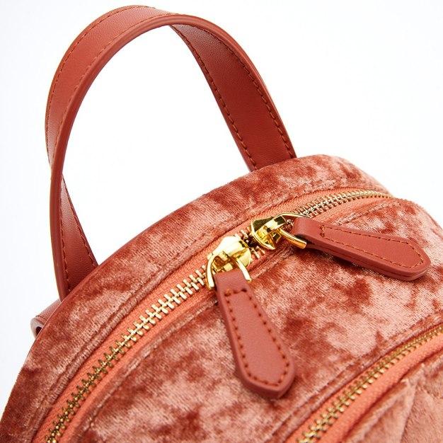Red Medium Plain Women's Backpack