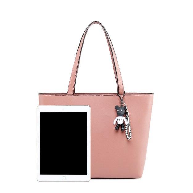 Plain Pvc Tote Bag Big Women's Shoulder Bag