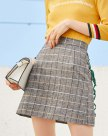 Gray High Waist Women's A Line Skirt