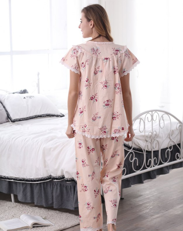 Pink Cotton Thin Women's Loungewear
