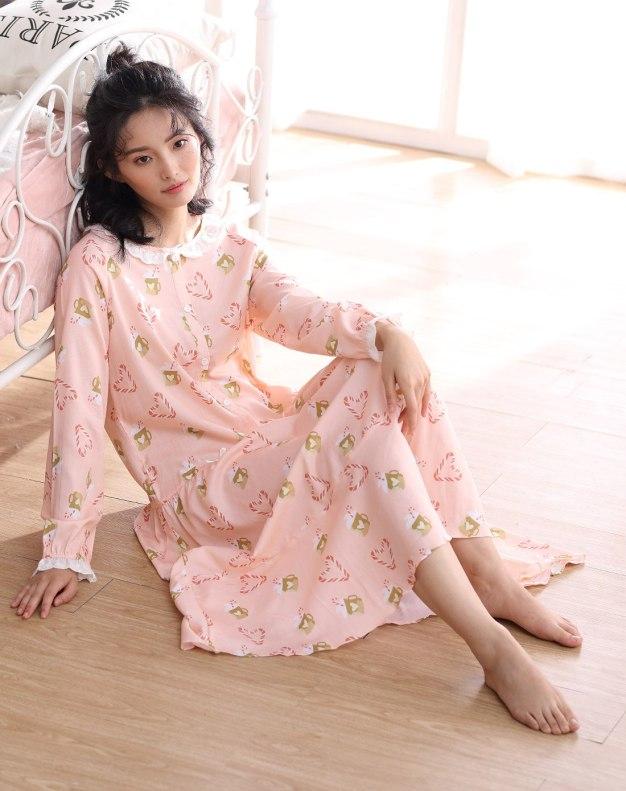 Cotton Long Sleeve Standard Women's Sleepwear