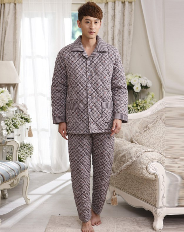 Gray Sleeve Ex Thick With Cotton Inside Men's Loungewear