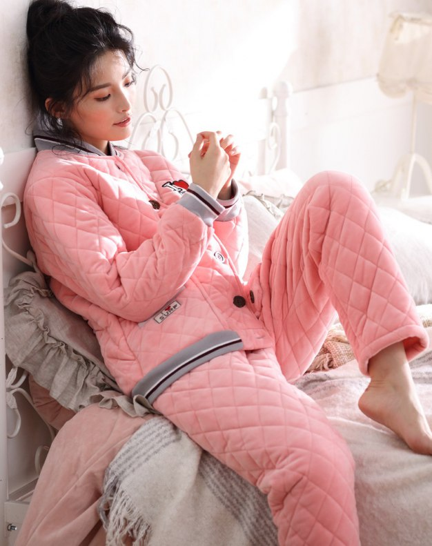 Polyester Sleeve Ex Thick With Cotton Inside Women's Loungewear