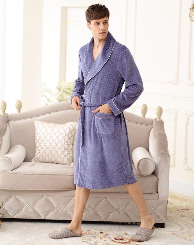Blue Cotton Bathrobes