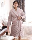 Gray Polyester Ex Thick With Cotton Inside Women's Night-Robe