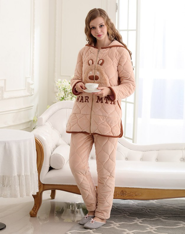 Polyester Ex Thick With Cotton Inside Women's Loungewear