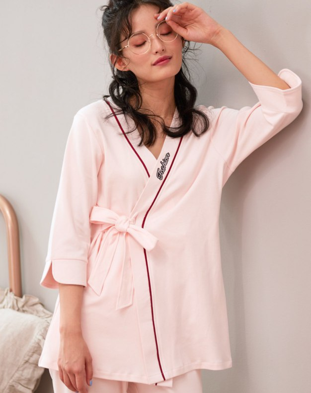 Pink Cotton Sleeve Standard Women's Loungewear