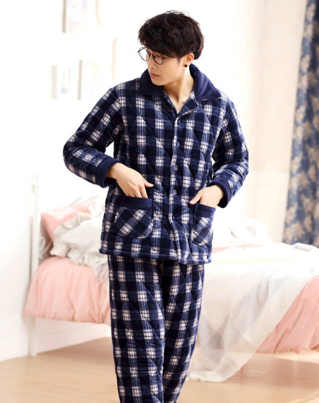 Sleeve Ex Thick With Cotton Inside Men's Sleepwear