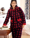 Red Sleeve Ex Thick With Cotton Inside Women's Sleepwear