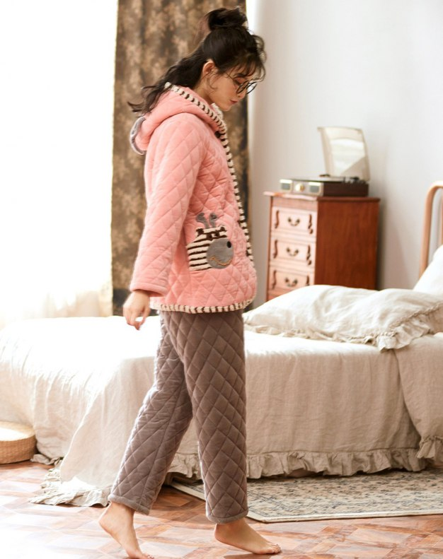 Sleeve Ex Thick With Cotton Inside Women's Sleepwear