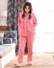 Polyester Sleeve Thickened And Cashmere Women's Loungewear