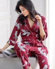 Blue Cotton 3/4 Sleeve Thin Women's Loungewear