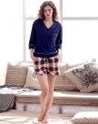 Blue Cotton Thin Women's Loungewear