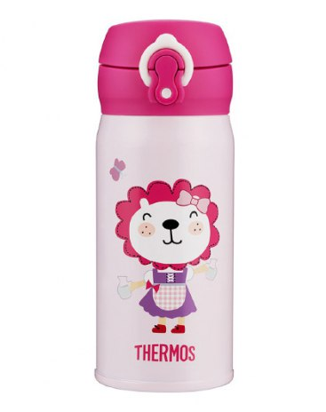 Pink Stainless Steel 301-400mL Straight Cup Vacuum Flask