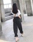 Black High Waist Siukhaf Long Women's Pants