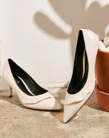 White Pointed High Heel Women's Shoes