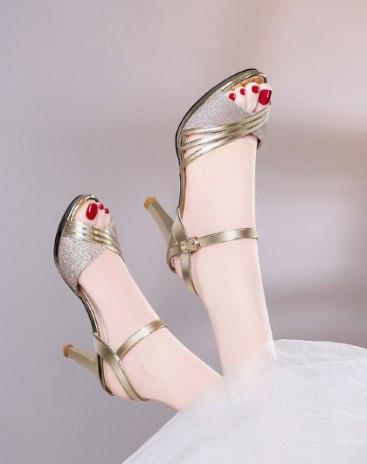 Yellow High Heel Women's Sandals