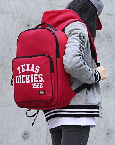 Red Polyester Medium Plain Women's Backpack