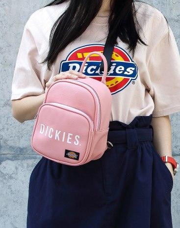 Pink PU Small Plain Women's Backpack