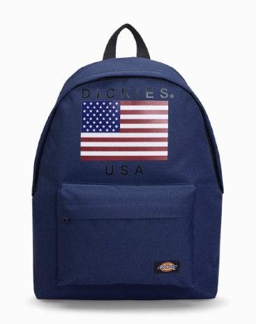 Blue Polyester Medium Plain Women's Backpack