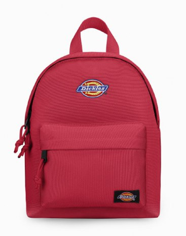 Red Polyester Small Plain Women's Backpack