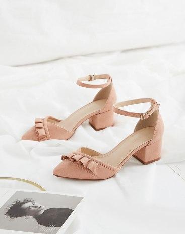 Pink Pointed High Heel Women's Sandals
