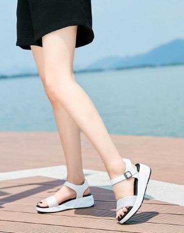White Wedges Women's Sandals