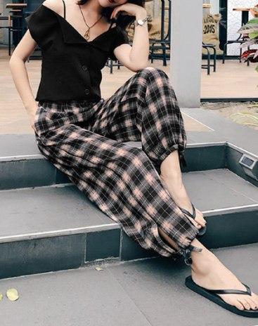 Black Siukhaf Cropped Women's Pants