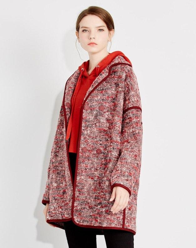 레드 여성 코트