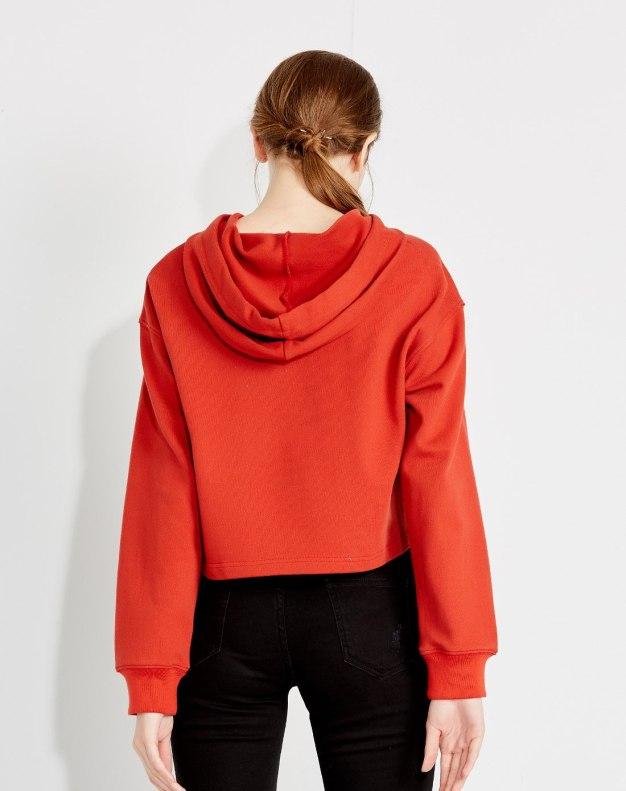 레드 알파벳 긴소매 여성 맨투맨티셔츠